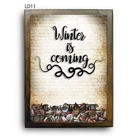 Quadro Tampinhas GoT Winter is Coming V2 LDQT07