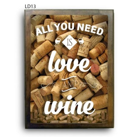 Quadro Rolhas All You Need is Love and Wine V1 LDQR03