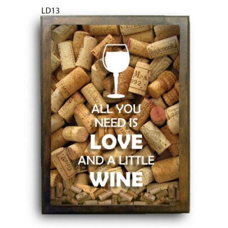 Quadro Rolhas All You Need is Love and Wine V2 LDQR16