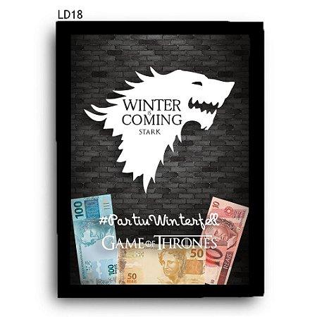 Quadro Cofre GoT Winter is Coming LDQC16