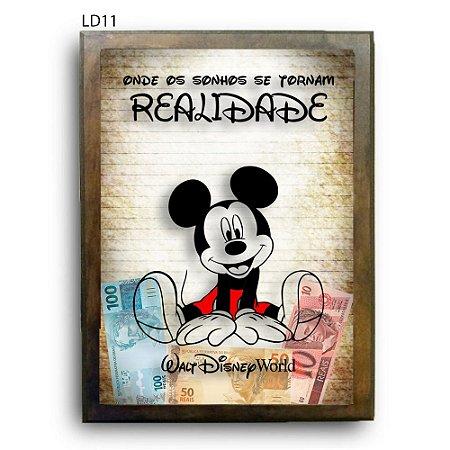 Quadro Cofre Viagem à Disney LDQC23