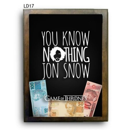 Quadro Cofre GoT Know Nothing Jon Snow v1 LDQC26