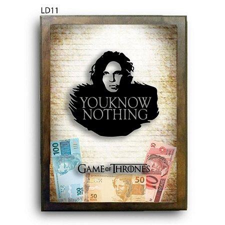 Quadro Cofre GoT Know Nothing Jon Snow v2 LDQC27