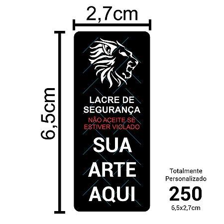 250 Lacres de Segurança Adesivos Personalizados 6,5x2,7cm
