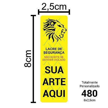 480 Lacres de Segurança Adesivos Personalizados 8x2,5cm