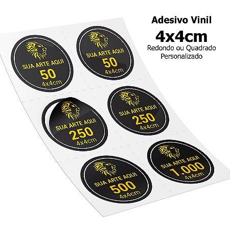 Adesivos Vinil Personalizados 4x4cm