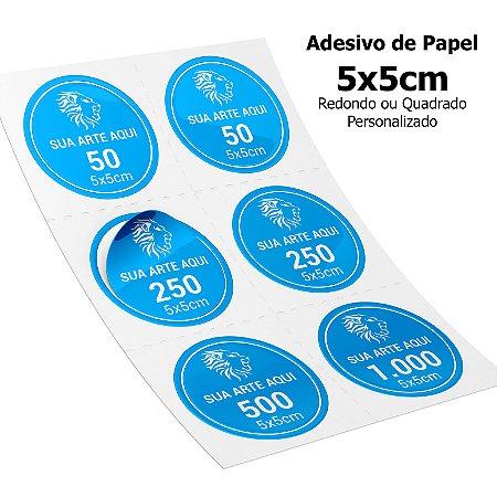 Adesivos Personalizados de Papel 5x5cm
