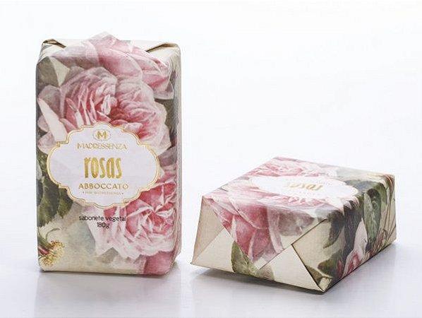 Sabonete Vegetal Madressenza Rosas 180grs