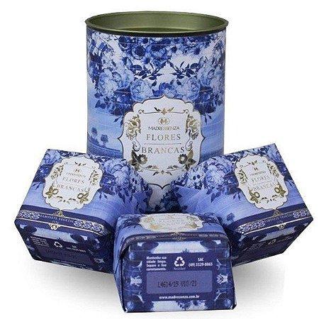 Estojo de mini sabonetes Flores Madressenza 3 unidades - (115g cada)