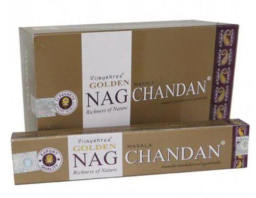 Incenso Golden Nag Chandan - 1 caixa