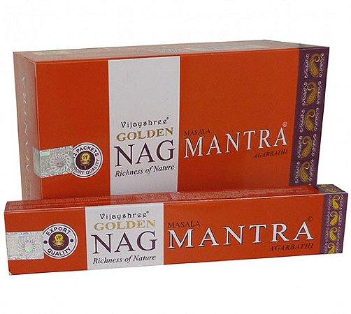 Incenso Golden Nag Mantra - 1 caixa