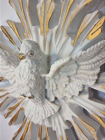 Divino Espírito Santo Dourado c/ Cristal