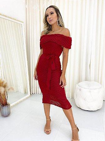 Vestido Tricot Ciganinha