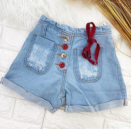 JUVENIL - Short Jeans Laço