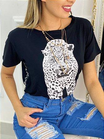 Blusa Faixa Lateral Love Jaguar