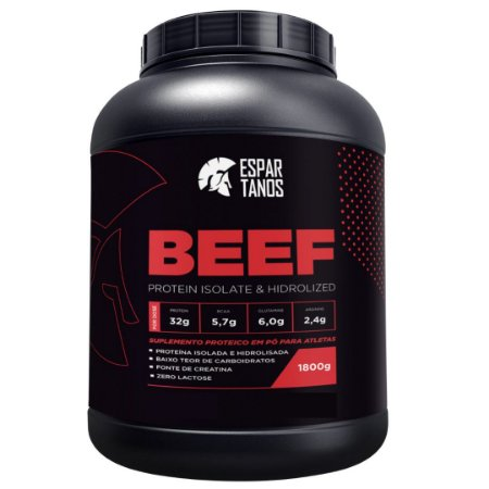 Beef Protein Isolate Hidrolized 1800g - Espartanos