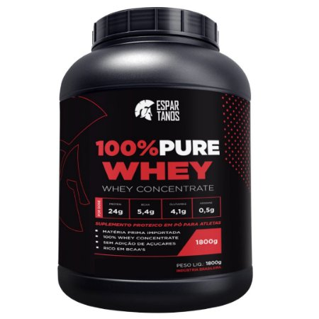 100% Pure Whey Protein Concentrate 1,8KG - Espartanos