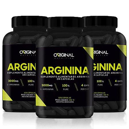 Kit 3x L-Arginina 120 Cáps - Original Nutrition