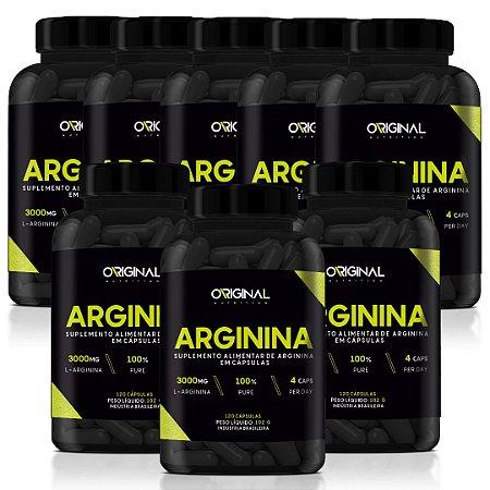 Combo 8x L-Arginina 120 Cáps - Original Nutrition