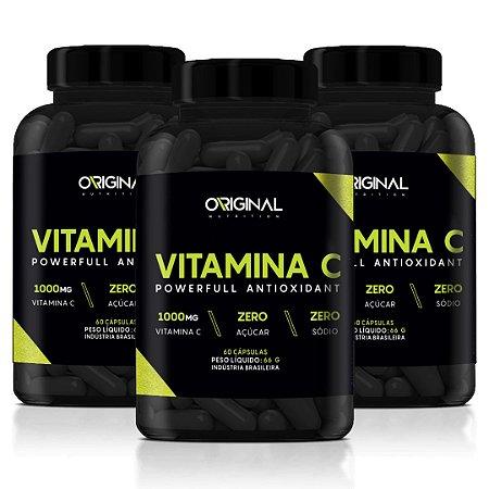 Combo 3x Vitamina C 60 Cáps - Original Nutrition