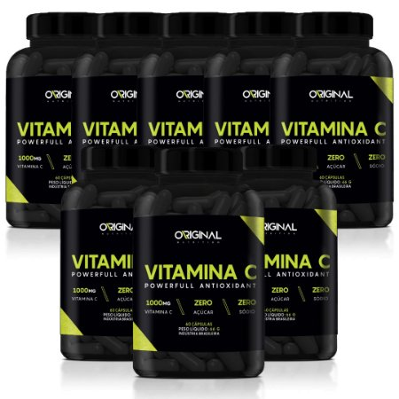 Kit 8x Vitamina C 60 Cáps - Original Nutrition