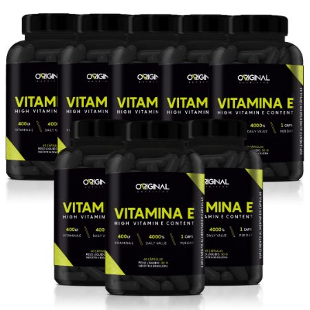 Combo 8x Vitamina E 60 Cáps - Original Nutrition