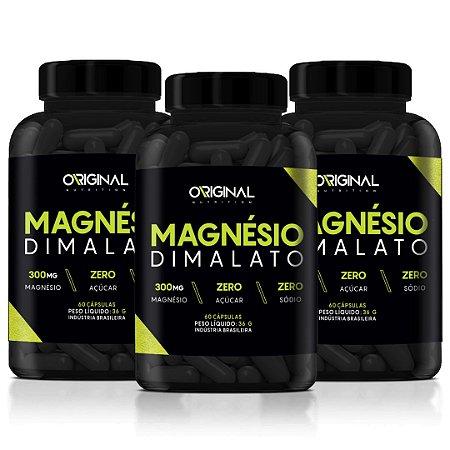Combo 3x Magnésio Dimalato 60 Cáps - Original Nutrition