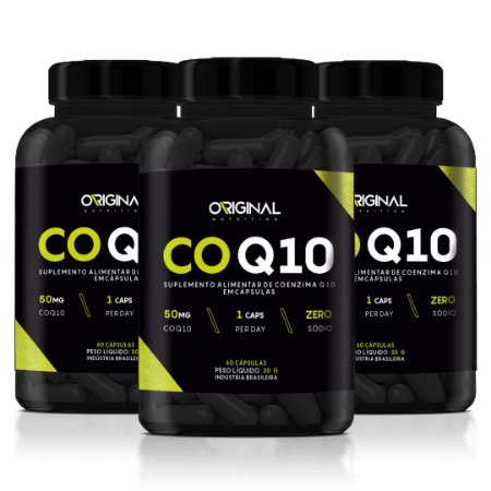 Kit 3x CoQ10 Coenzima Q10 60 Cáps - Original Nutrition
