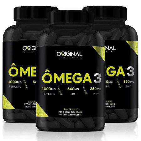 Kit 3x Ômega 3 120 Cáps - Original Nutrition