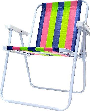 Cadeira de aço dobrável Mor super resistente