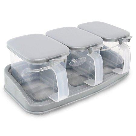 Porta Condimentos 3 Partes - Plástico clink