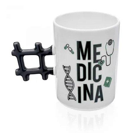 Caneca Hashtag Medicina LUDI