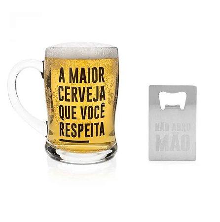CANECA + ABRIDOR DE GARRAFAS CARTÃO LUDI