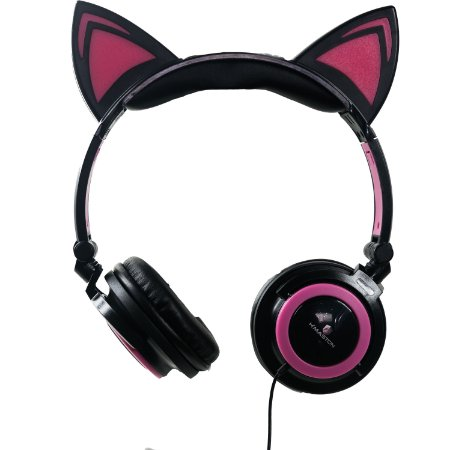 CAT EAR HEADPHONES H'MASTON COM FIO