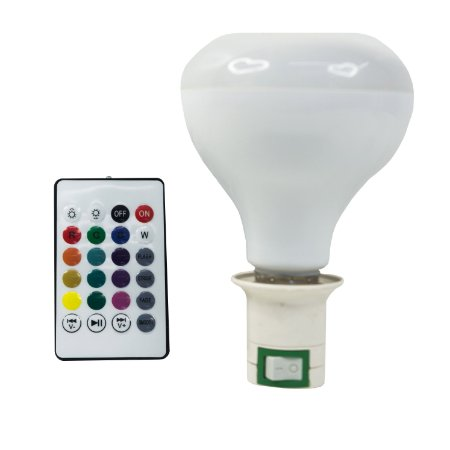 Lâmpada toca música e LED RGB