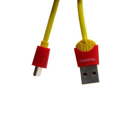 CABO USB E CARGA HMASTON FORMATO BATATA FRITA TYPE-C