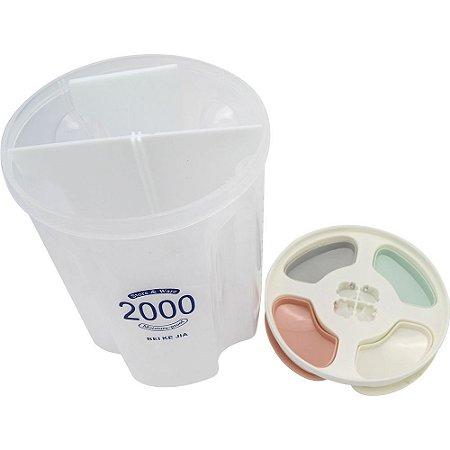Pote com Divisórias Plástico PP 2300ml CLINK