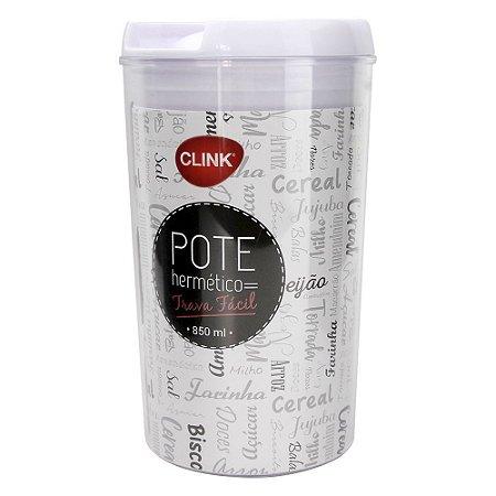 Pote Hermético com Trava Circular 850ml CLINK