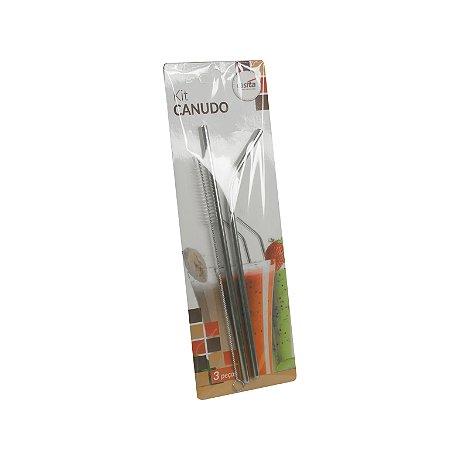 kit canudo de inox reutilizável CLINK