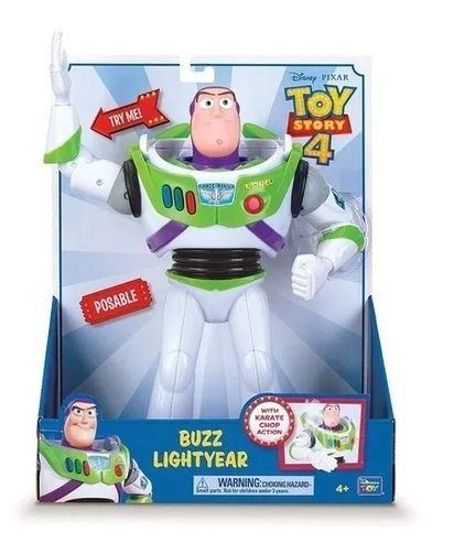 Boneco Buzz Lightyear Golpe De Karatê Toy Story 4 Toyng