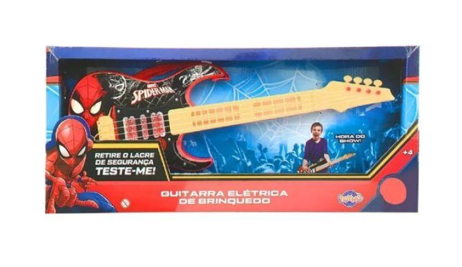 Guitarra Elétrica Homem Aranha com Luzes - Toyng
