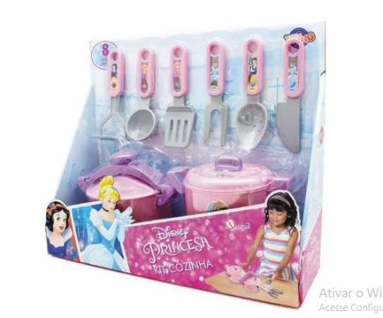 Kit Cozinha infantil - Panela etc- Disney Princesa TOYNG