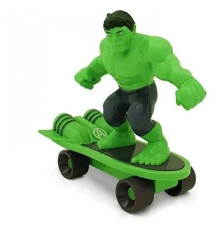 Skate Radical Com Fricção Hulk E Capitão América 20 Cm Toyng