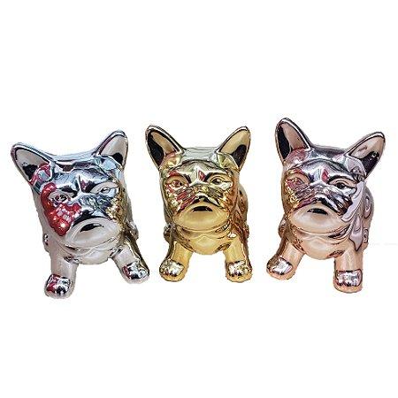 Enfeite cachorro de cerâmica golden rio PEQUENO E GRANDE