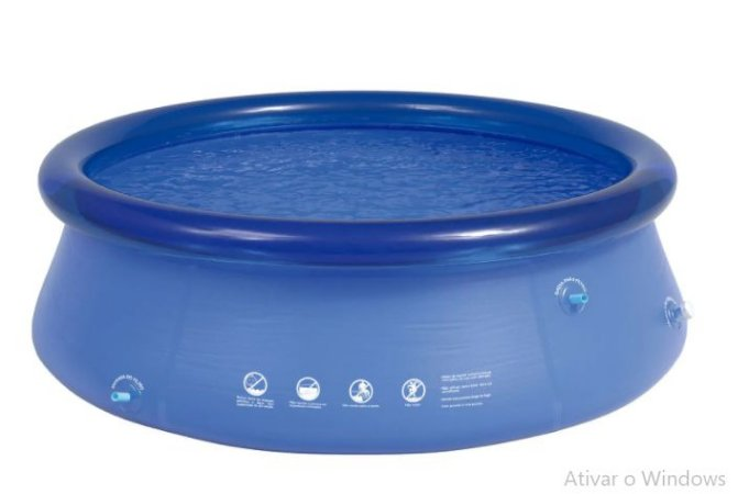 Piscina Inflavel Redonda Mor 1900l Azul