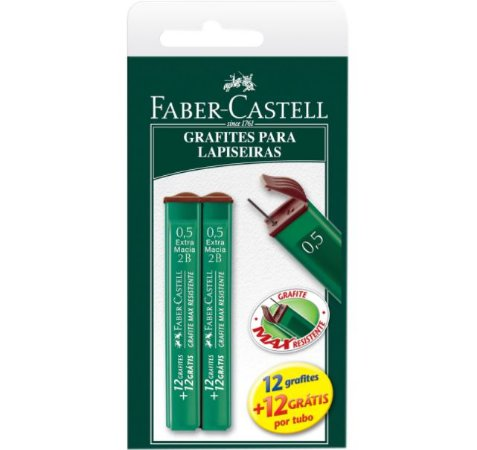 GRAFITE POLYMER 0.5MM CARTELA 2B FABER CASTELL