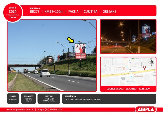 2024 - BR-277 - Km 98 + 100 m - Face A