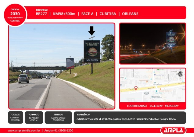 2030 - BR-277 - Km 98 + 500 m - Face A