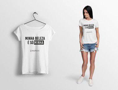 Camiseta Babylook - Minha beleza é só minha