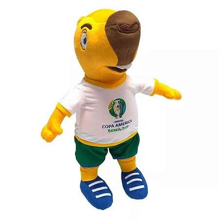 Mascote da Copa América 2019 Pelúcia Zizito Capivara